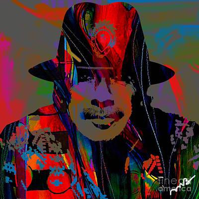Carlos Santana Collection Art Print