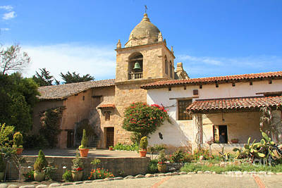 Photograph - Carmel Mission by Frank Townsley