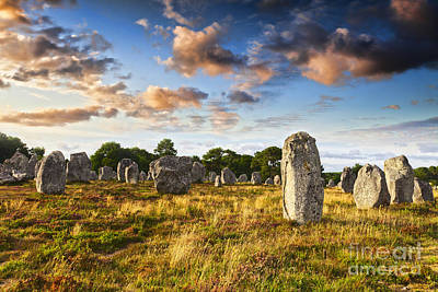Megalith Photograph - Carnac Alignments Brittany France by Colin and Linda McKie
