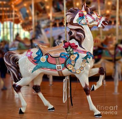 Carousel Horse Art Print by Iris Richardson