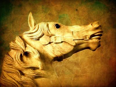 Photograph - Carousel Horse by Steve McKinzie