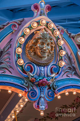 Abstract Male Faces - Carousel  Jester by Iris Richardson