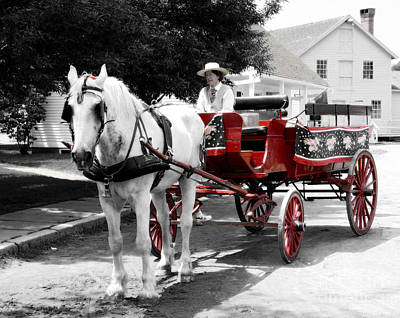 Carriage Ride Art Print by Raymond Earley
