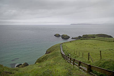Carrick-a-rede Path Ireland Art Print by Betsy Knapp