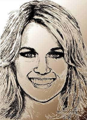 Digital Art - Carrie Underwood In 2011 by J McCombie