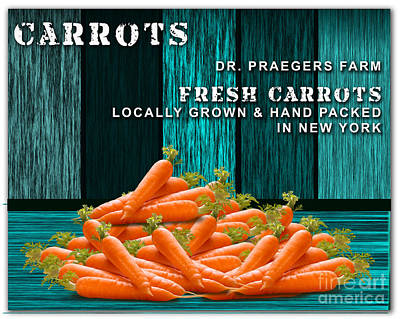 Carrot Mixed Media - Carrot Farm by Marvin Blaine