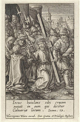 Carrying Of The Cross, Hieronymus Wierix Art Print