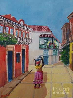 Cartagena Seller Art Print
