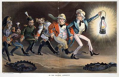 Chinese Lanterns Painting - Cartoon Boxer Rebellion by Granger