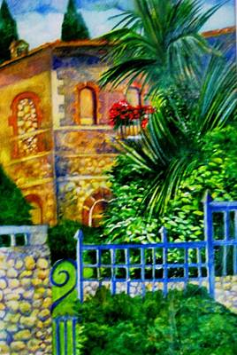 Painting - 'casa At Radda' by Kandy Cross