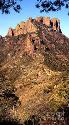 Casa Grande Photograph - Casa Grande Mountain, Big Bend, Texas by Gregory G. Dimijian, M.D.