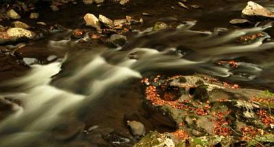 Cascades In Autumn Art Print by Dan Sproul