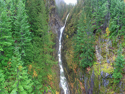 Winthrop Photograph - Cascades Waterfall by Tom Norring
