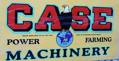 Case Tractor Sign Original by Nelson Skinner
