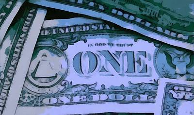 Currency Mixed Media - Cash by Dan Sproul