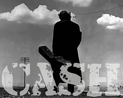 Mixed Media - Johnny Cash by Marvin Blaine