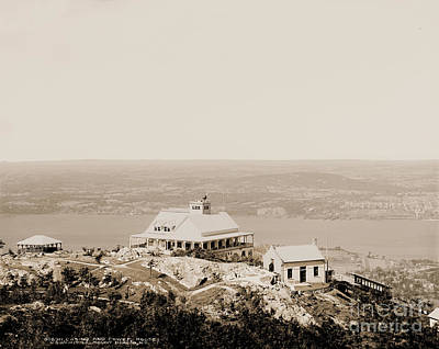 Casino At The Top Of Mt Beacon In Sepia Tone Art Print