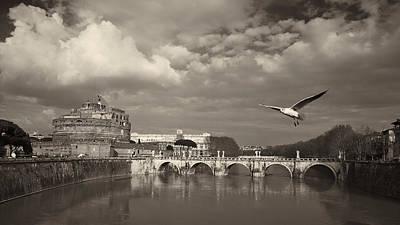 Jouko Lehto Royalty-Free and Rights-Managed Images - Castel e Ponte di Sant Angelo by Jouko Lehto