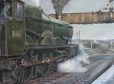Nostalgia Painting - Castle Class 4.6.0. by Mike  Jeffries