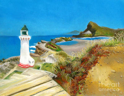 Painting - Castle Point Lighthouse by Amber Nissen