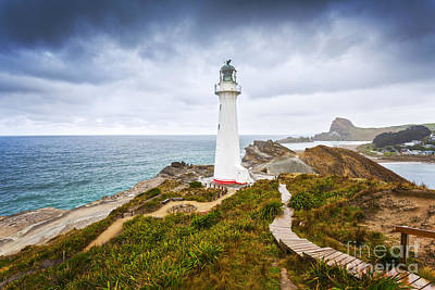 Photograph - Castlepoint Lighthouse Wairarapa New Zealand by Colin and Linda McKie