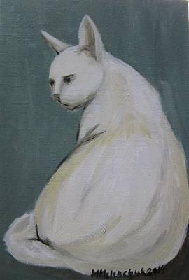 Cat 2014 Art Print by Maria Melenchuk