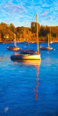 Cape Cod Digital Art - Cat Boat by Michael Petrizzo