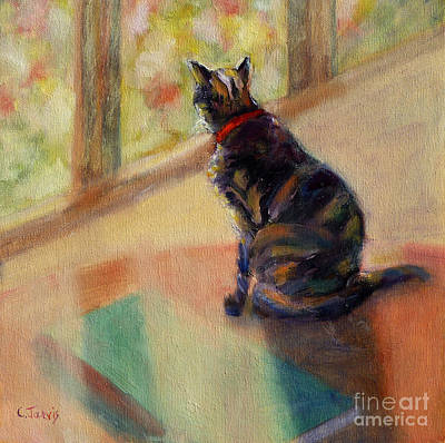Painting - Cat By Window by Carolyn Jarvis