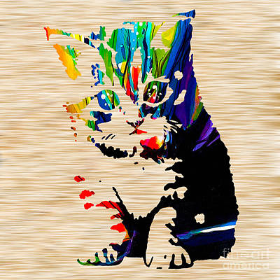 Cat Kitten Print by Marvin Blaine