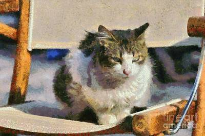 Painting - Cat On Chair by George Atsametakis