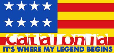 Painting - Catalonia Is Where My Legend Begins by Celestial Images