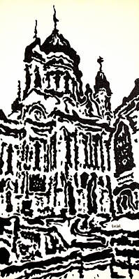 Cathedral Ix Art Print by Oscar Penalber