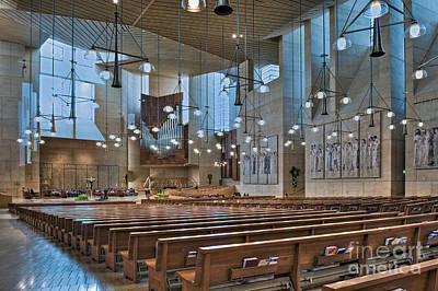Photograph - Cathedral Of Our Lady Of The Angels Church Los Angeles Ca by David Zanzinger