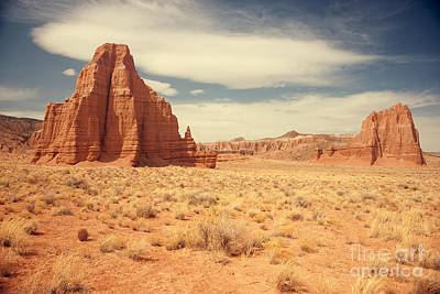 Capital Reef Photograph - Cathedral Valley Utah by Carolyn Rauh