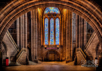 Window Signs Photograph - Cathedral Window by Adrian Evans