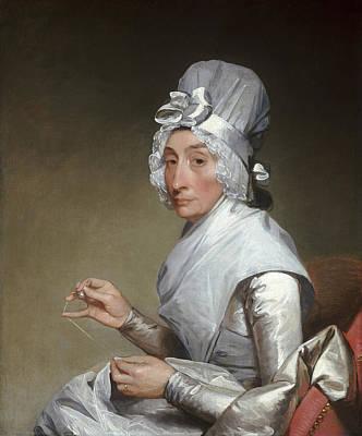 Catherine Brass Yates Art Print by Gilbert Stuart