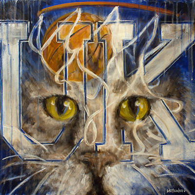 Basketball Painting - Cats by Josh Hertzenberg