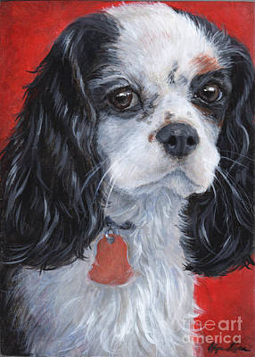Cavalier King Charles Spaniel Art Print by Hope Lane
