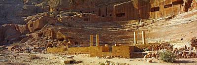 Petra Photograph - Cave Dwellings, Petra, Jordan by Panoramic Images