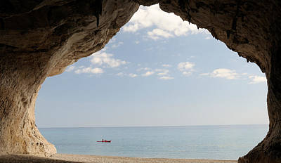 Luna Photograph - Cave On The Cala Luna Beach, Cala by Panoramic Images