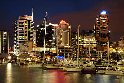 Boat Basins Photograph - Cbd And Viaduct Harbour, Auckland by David Wall