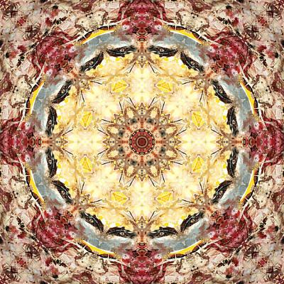 Haeckel Digital Art - Cecropia Sun 4 by Lisa Lipsett
