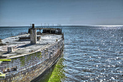 Photograph - Cement Boat 2 by SC Heffner