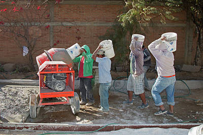 Cement Photograph - Cement Mixing For Road-building by Jim West