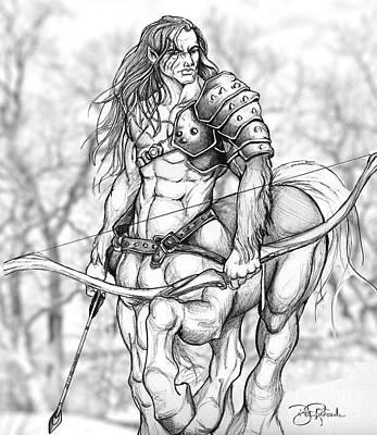 Centaur Art Print by Bill Richards
