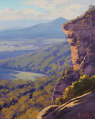Mountain Valley Painting - Centenial Glen Blackheath by Graham Gercken