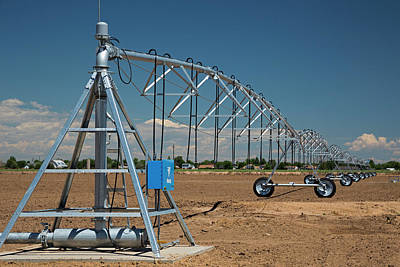 Centre-pivot Irrigation Boom Art Print