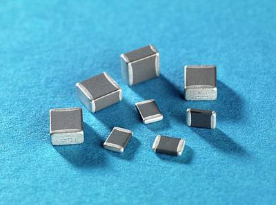 Electronic Component Photograph - Ceramic Capacitor by Andrew Brookes, National Physical Laboratory