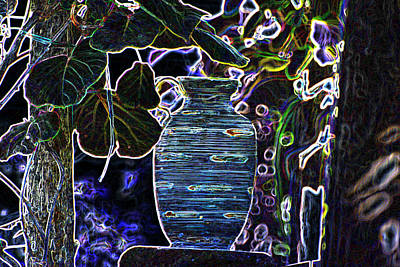 Generative Photograph - Still Life Wine Jar by Dave Byrne