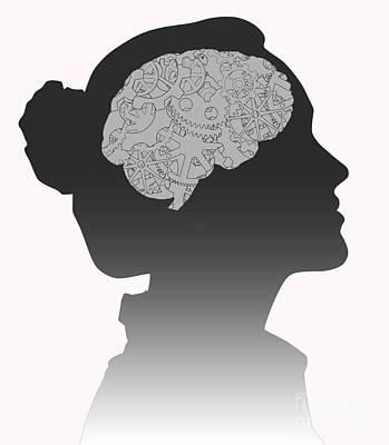 Cerebral Activity In Woman Art Print